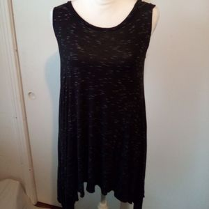 Poof black sleeveless top size M